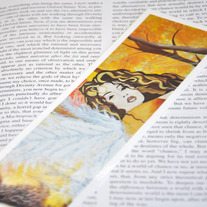"Handmade Laminated Bookmark, ""The Beginning"", Art By Jacy Lee Pulford"