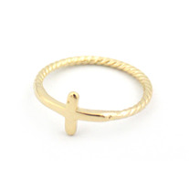 Twisted Cross Ring (More Colors Available)