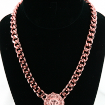 Rose Gold Lion Head Necklace***FREE USA SHIP