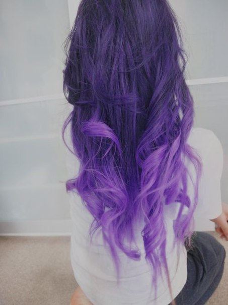 Brown Purple Ombre Hair Extensions 2