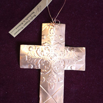 Copper Cross Ornament medium photo
