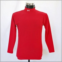 Red Long Sleeve Under Armor Shirt
