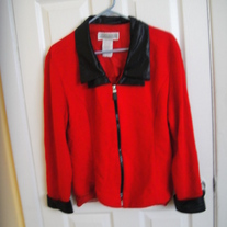 Jessica Howard Red Zip Up Blazer Sz 16