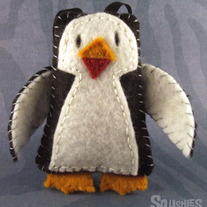 Felt Ornament, Felt  Christmas Ornament - Bow Tie the Penguin