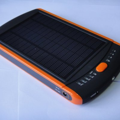 Solar mobile power bank for laptop / iphone / ipad / cell phone 23000mah