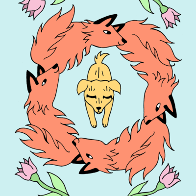 The quick brown fox print