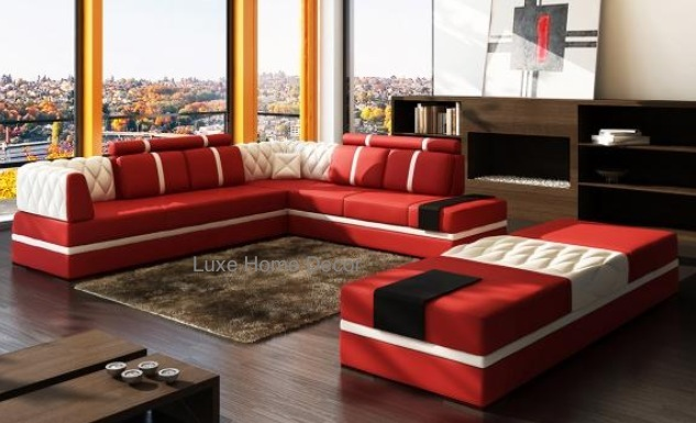 Stalling Quilted Sectional Luxe Home Decor Furnishings
