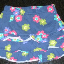 Navy/Floral Skirt-Carters Size 2T