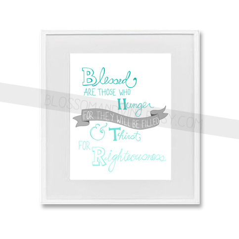"""Blessed are Those"" hand-drawn 8x10 scripture print"