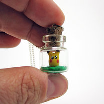 I Choose You Pikachu Tiny Bottle Necklace medium photo