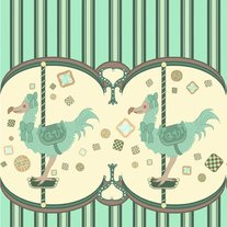 Dodo Cookie Carousel Fabric