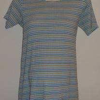 Pastel Stripe Short Sleeve Shirt-Duo Maternity Size Small