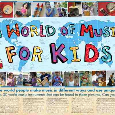 A world of music for kids poster