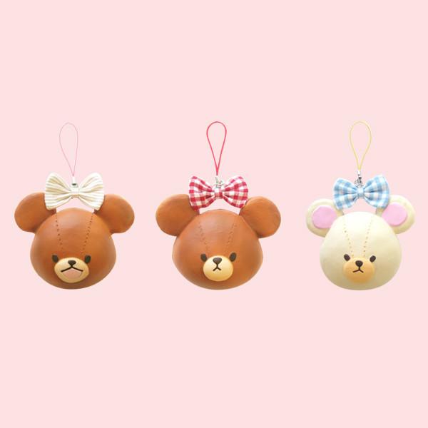 Squishy Head Bun : RARE ORIGINAL Bear s School Head Bun Squishy Cell Phone Charm ? Kawaii Squishy Shop ? Online ...