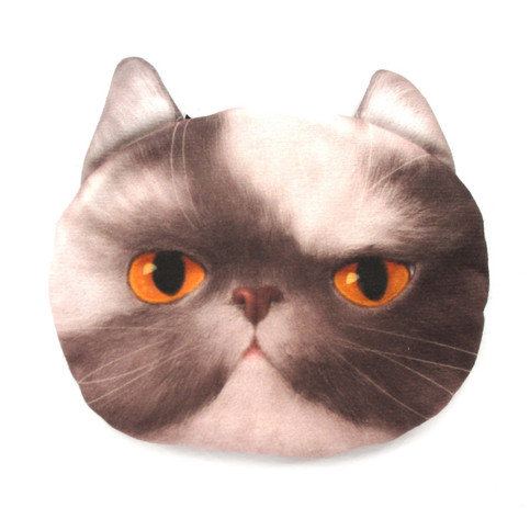 Grey And White Kitty Cat Face