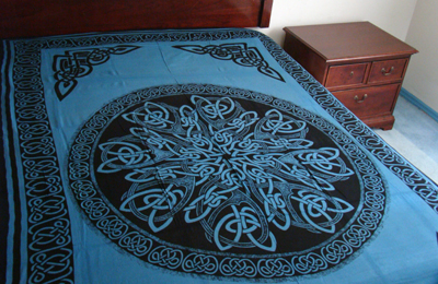 Celtic Knot Mandala Blue Wicca Altar Hippie Tapestry Wall