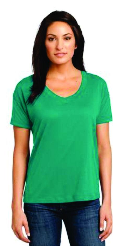 Ladies Sizes V Neck Shirt With Custom Glitter One Stop T