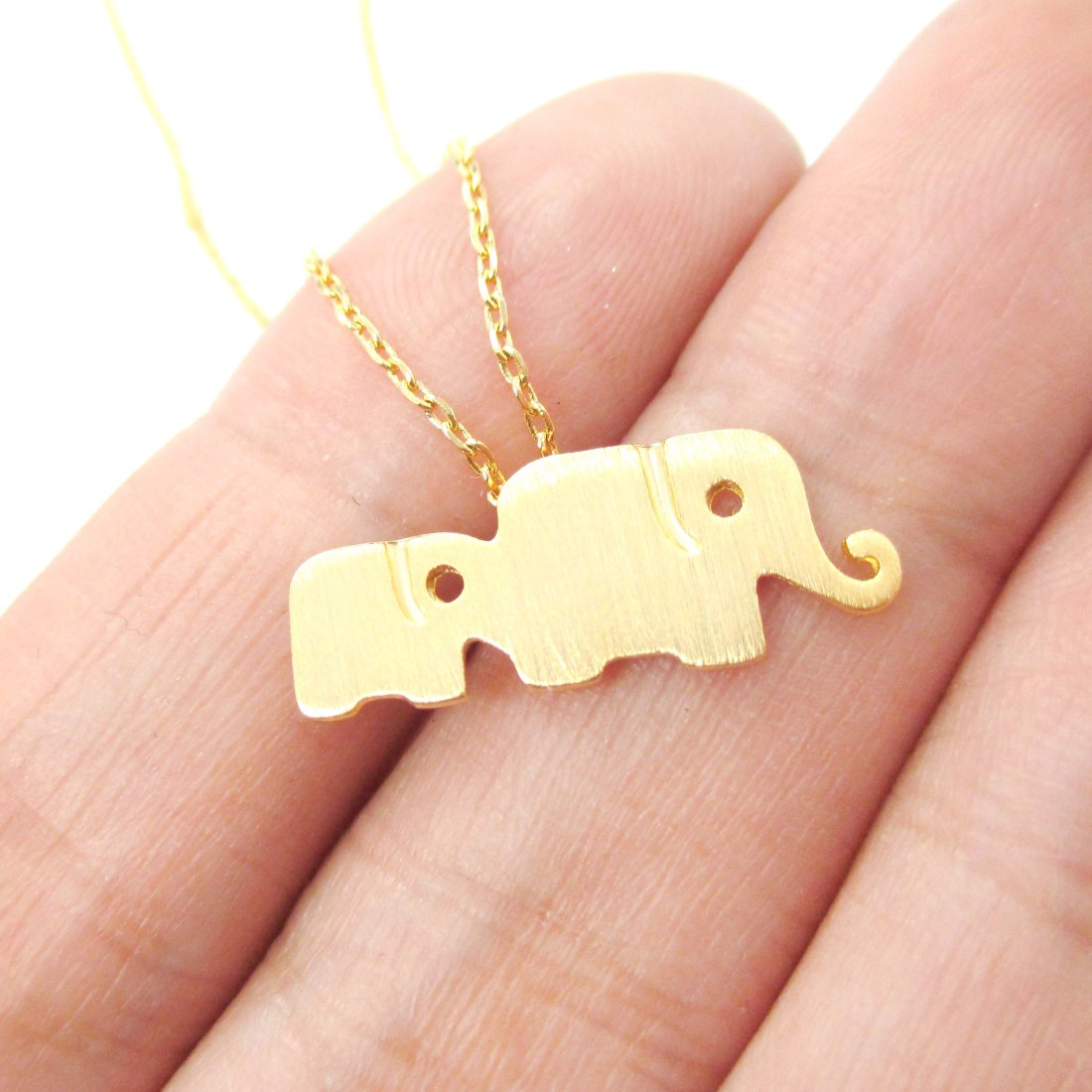Classic elephant mother and baby family pendant necklace in gold classic elephant mother and baby family pendant necklace in gold mozeypictures Image collections