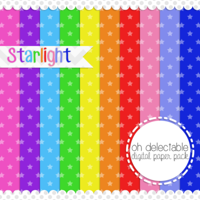 Starlight digital paper pack