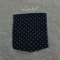 Polkadots Pocket T-Shirt (Athletic Heather)