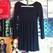 Black Forever 21 Long Sleeve Dress Small