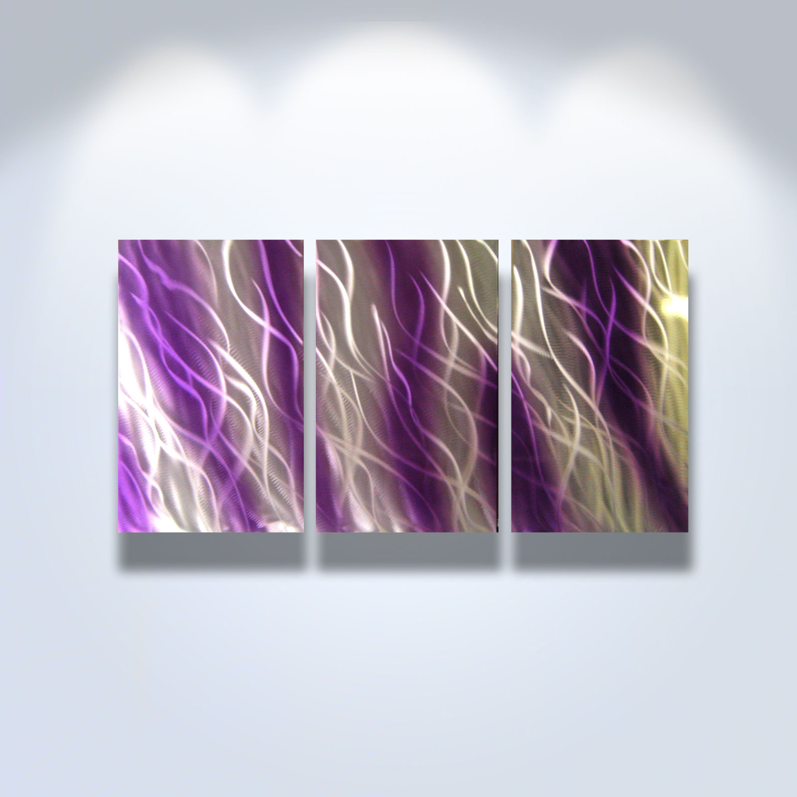 Reef purple abstract metal wall art contemporary modern for Purple wall art