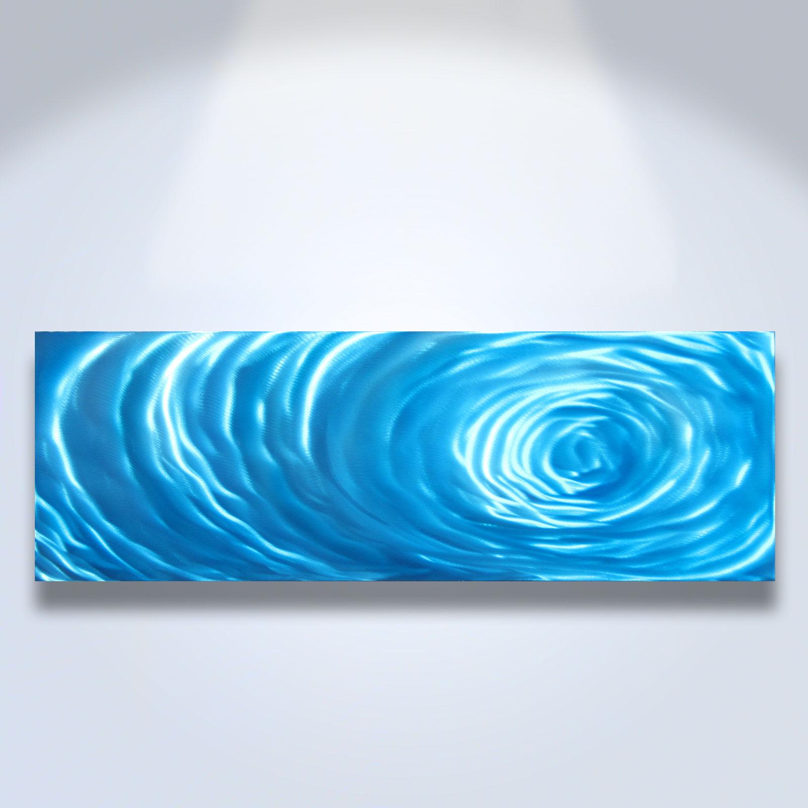 Small Blue Ripple - Metal Wall Art Abstract Sculpture Painting Modern Decor - Thumbnail 1 ...  sc 1 st  Inspiring Art Gallery & Small Blue Ripple - Metal Wall Art Abstract Sculpture Painting ...