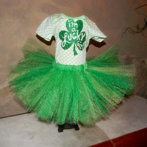 St Patricks Day Green Tutu Skirt for Baby & Toddler Girls
