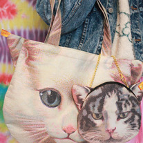 CAT TOTE + SMALL TOTE