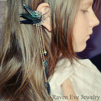 Dark Fairy Ear Cuff Ornate Filigree  - Thumbnail 1