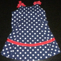 Navy Dress with Starts/Red Ribbon-Gymboree Size 12-18 Months