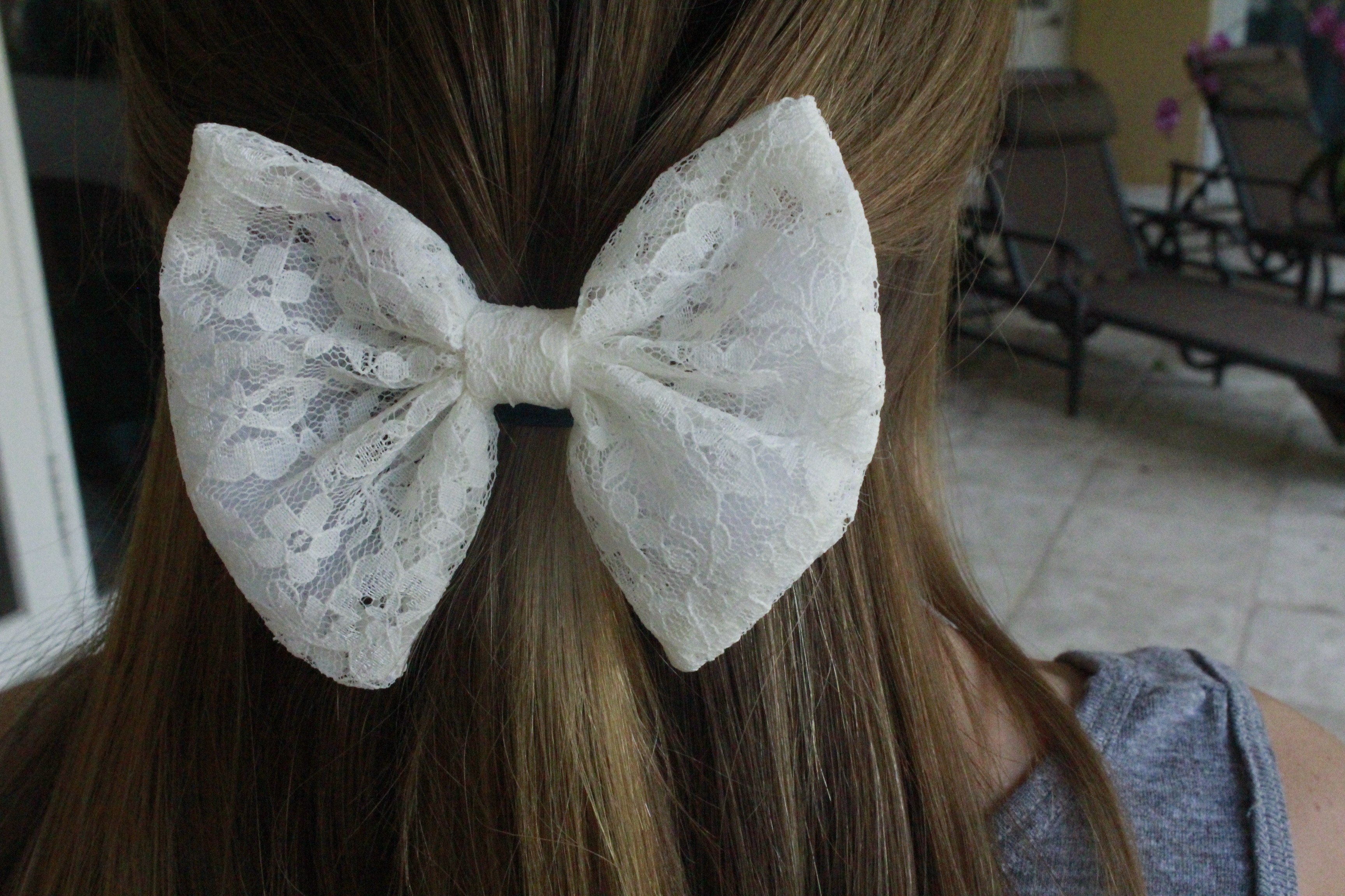 Caitlin S Bowtique White Lace Bow Online Store Powered