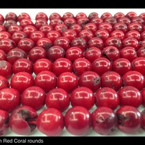 Red Coral rounds. 10mm