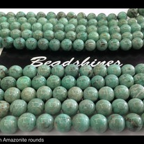 Amazonite  rounds 10mm