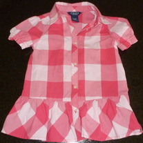 Pink/White Dress-Chaps Size 3T