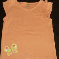 Orange Sleeveless Shirt With Butterfly-Gymboree Size 4