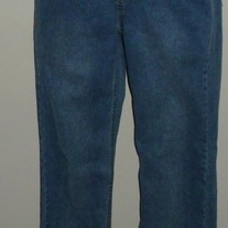 Denim Jeans with Rhinestone Pockets-Size Medium  CLSR