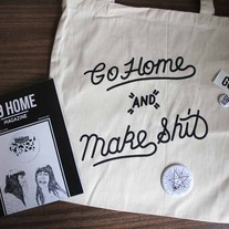 Tote bag, a pin and Issue #2