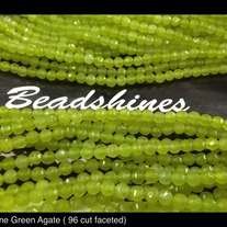 Light Green Agate 4mm (96 cut faceted)