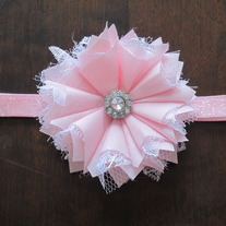 Baby Pink Glitz and Glam headband