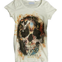 White Skeleton Print T-shirt