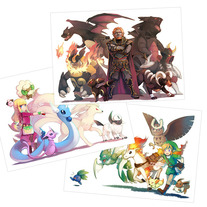 Legend of Zeldamon print set