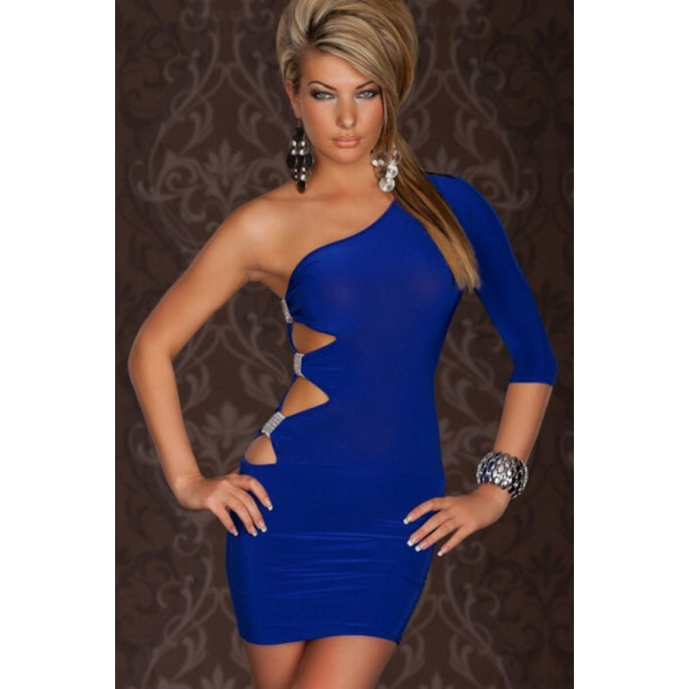 Go-Go One Arm Mini Dress - Blue · Everyday Sweetheart · Online ...