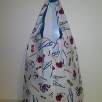 Scrub Up  Print Tie Handbag