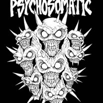 Psychosomatic Demon Faces Sticker