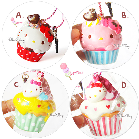 Squishy Collection Hello Kitty : Rare* Hello Kitty Cupcake Squishy (Licensed) ? Uber Tiny ? Online Store Powered by Storenvy