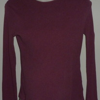Dark Pink Ribbed Long Sleeve Shirt-Motherhood Maternity Size Small