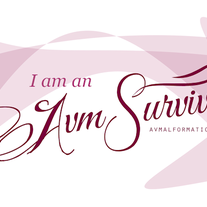 """I am an AVM Survivor"" Sticker"