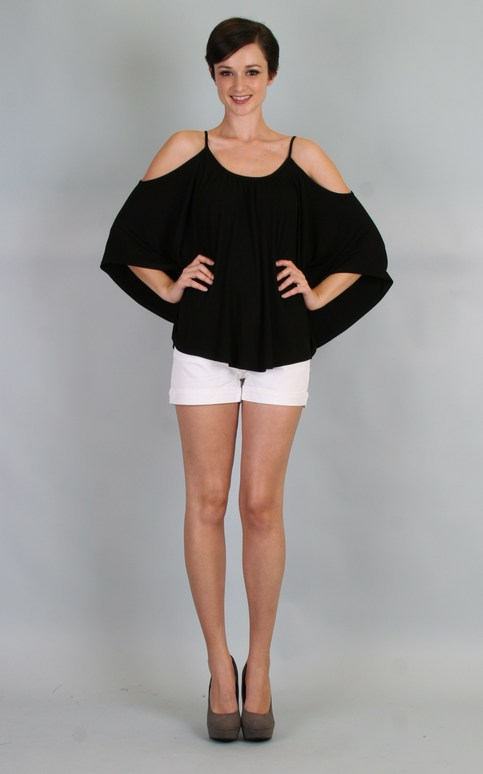 Green Apple | James and Joy Nick Open Shoulder Top Black | Online Store Powered by Storenvy