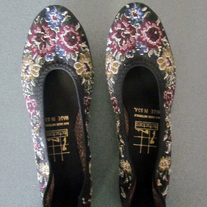 Vintage Pointed Tapestry Floral Flats Never Worn Size 6.5